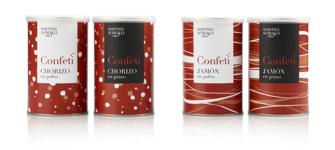 """Confeti"" de Chorizo y Jamón, por Martínez Somalo"