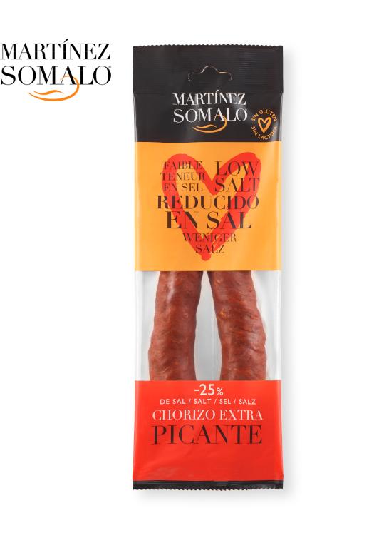 Chorizo Faible Teneur En Sal Piquant Martínez Somalo